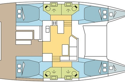 Location Catamaran FOUNTAINE PAJOT ASTRÉA 42 Propriano
