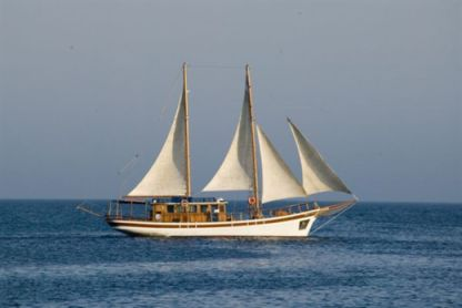 Charter Sailing yacht Traditional Wood Motor Schooner With Sails Protaras