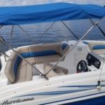 Motorboat Hurricane Sun Deck