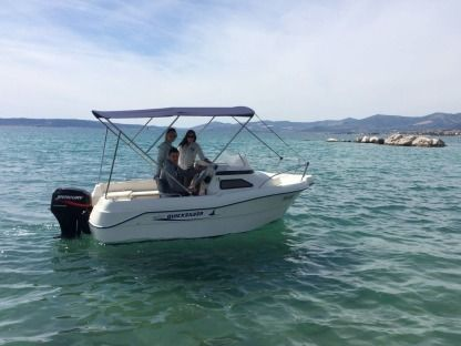 Rental Motorboat Quicksilver 450 Cabin La Rochelle