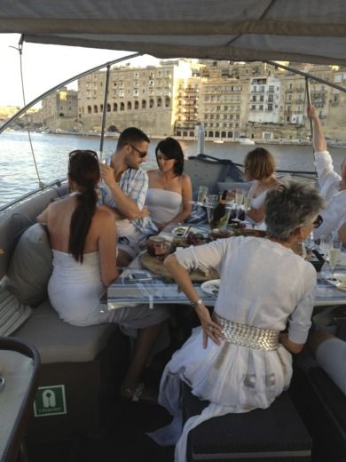 Motorboat Traditional Maltese Boat Luxury Luzzu for hire