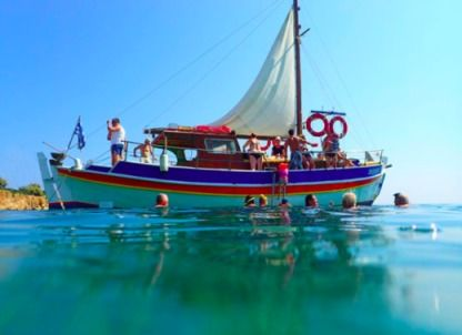 Charter Sailboat Wooden Traditional Sailboat Heraklion