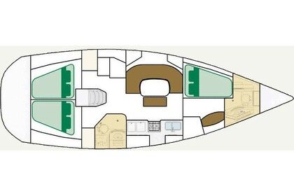 Hire Sailboat Beneteau Oceanis 393 Clipper Corfu