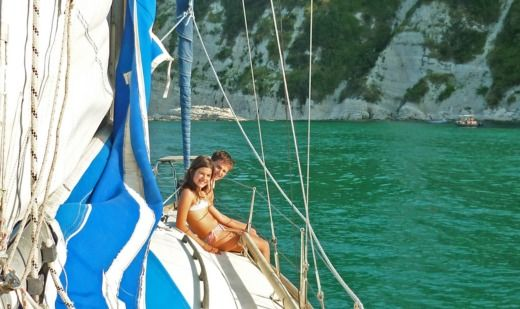 Charter sailboat in Ancona