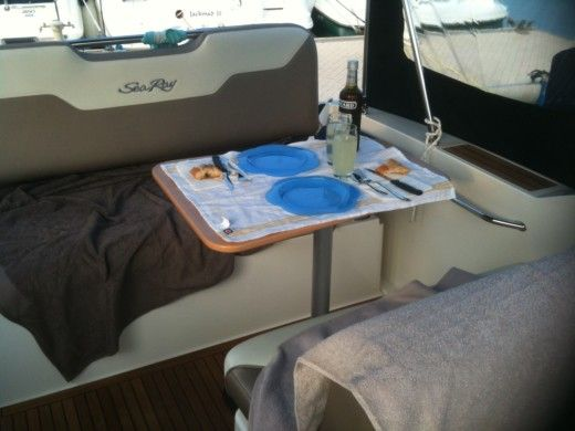 Sea Ray Sundencer 255 a Vallauris da noleggiare