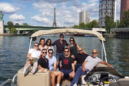 Rental Motorboat Sun Tracker Party Barge 24DLX Paris