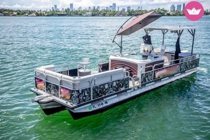 Miete Motorboot Pontoon 30 Miami Beach