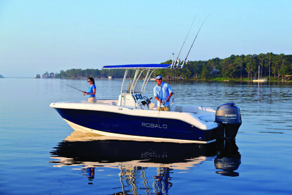Rental Motorboat Robalo 28 Galveston