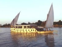 Egypt Dahabiya Sailing Boat in Luxor