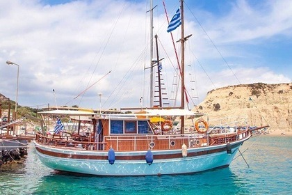 Charter Sailboat Traditional Wooden Boat Rhodes