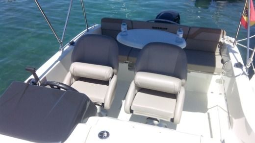Quicksilver Activ 455 Cabin in La Savina for hire