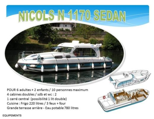 Motorboat NICOLS SEDAN 1170 peer-to-peer