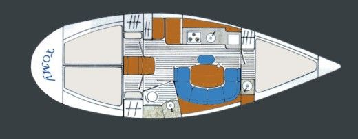 Sailboat Jeanneau Sun Odyssey 33 for hire