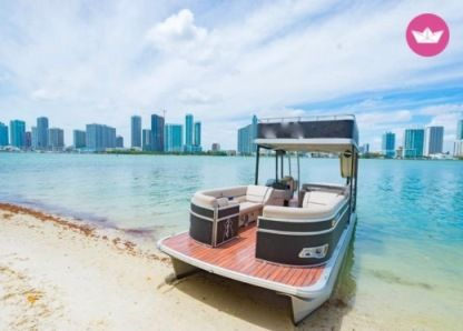 Rental Motorboat Pontoon Boat 27 Miami Beach