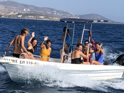 Rental Motorboat Man Open 550 Paros