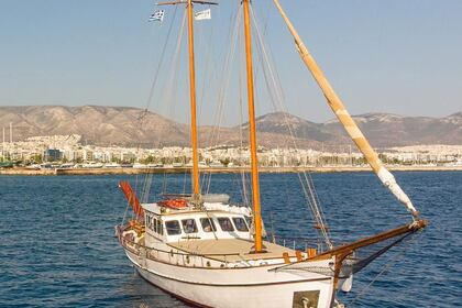 Charter Sailboat Traditional greek wooden boat Trexandiri Athens
