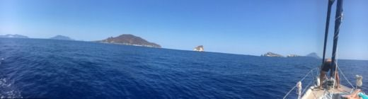 Charter sailboat in Aeolian Islands