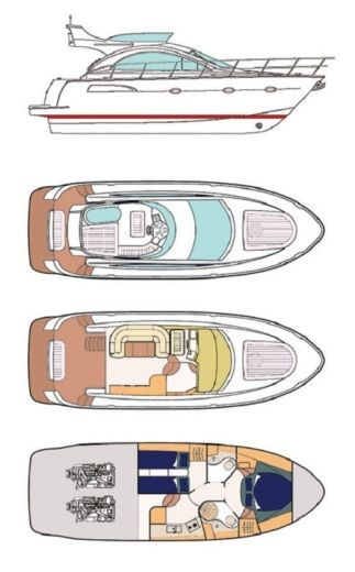 Motorboat Pearlsea Yachts 40 Fly for hire