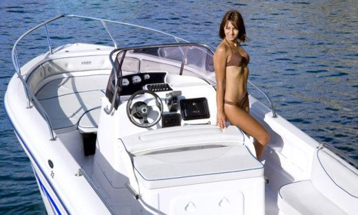 Charter motorboat in Manerba del Garda