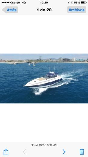 Charter motorboat in Barcelona peer-to-peer