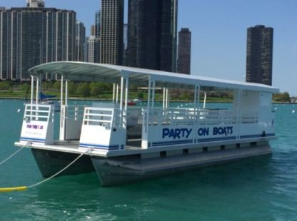 Rental Motorboat Pontoon Custom Chicago