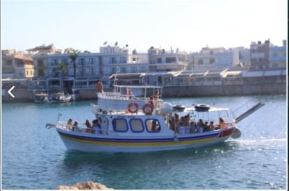 Charter Motorboat Traditional Wooden Motorboat Heraklion