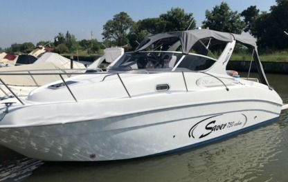 Charter Motorboat Saver 750 Cabin San Felice Circeo