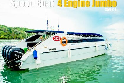 Charter Motorboat Speedboat 4 Engines Jumbo Phuket
