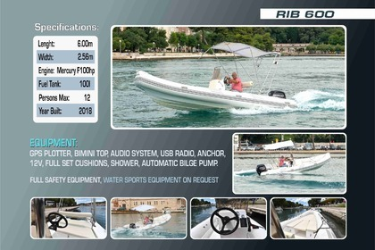 Location Semi-rigide Yahtsport Rib 600 Trogir