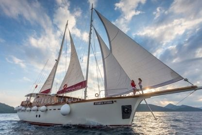 Charter Sailboat Bodrum Shipyard Gulet Mornig Star Split