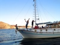 Charter Sailboat Traditional Boat Wooden 38 Santorini