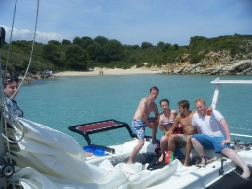 Charter catamaran in Fornells peer-to-peer