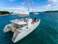 Rental catamaran in Trogir