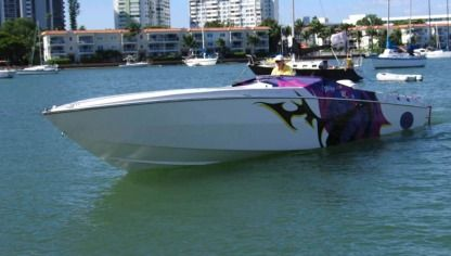 Charter Motorboat Cigarette Racing Cafe Racer Miami