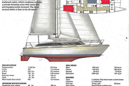 Rental Sailboat Prout Snowgoose 37 Six-Fours-les-Plages