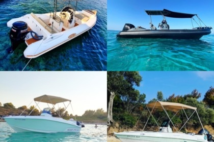Hire Motorboat Compass 150cc και 168pro Vourvourou