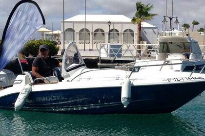 Miete Motorboot QUICKSILVER 410 FISH Playa Blanca