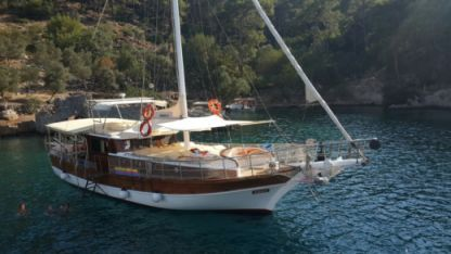 Charter Sailboat Custom Made Wooden Ketch Göcek