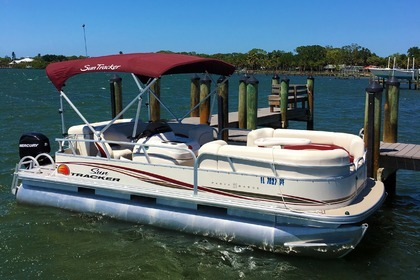 Rental Motorboat Sun Tracker Party Barge Signature Pontoon 22' North Port