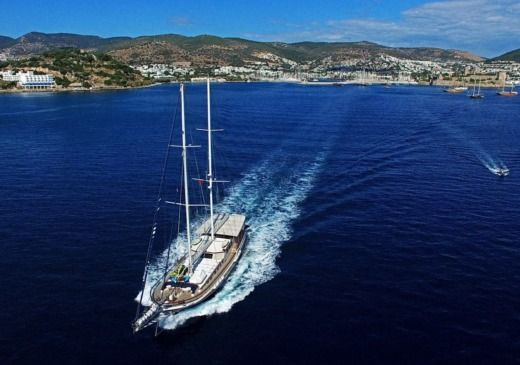 Sailboat Bodrum Shipyard Golette En Bois for hire