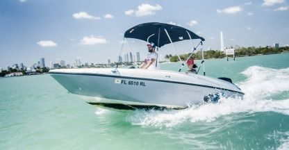 Miete Motorboot Bayliner Element 16 Miami