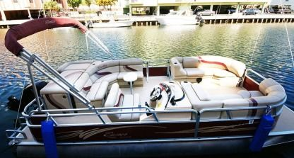 Charter Motorboat Bentley Pontoon Boat Miami