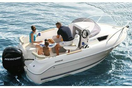 Charter Motorboat Quicksilver 470 Cruiser St-Laurent-du-Var