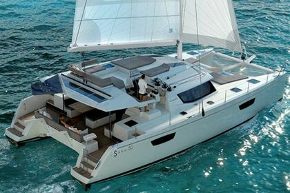 Charter Catamaran FOUNTAINE PAJOT 50 Leeward Islands