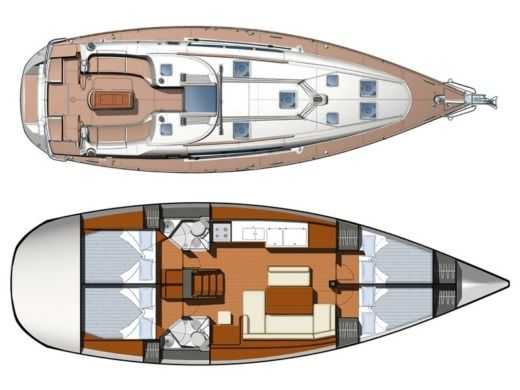 Sailboat Jeanneau Sun Odyssey 44 I for hire