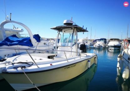 Charter Motorboat Fishing Raptor 240 Coma-ruga