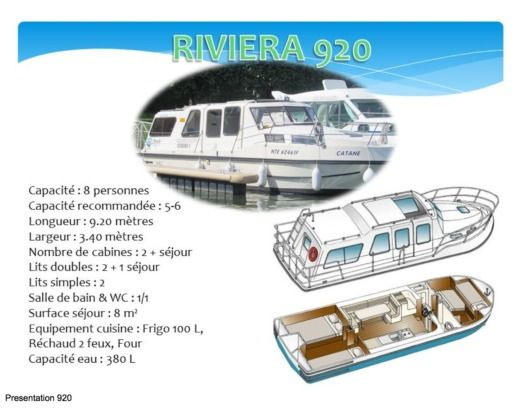 Motorboat NICOLS RIVIERA 920 peer-to-peer