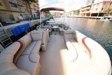Bentley Pontoon Boat in Miami