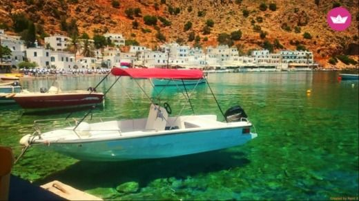 Motorboat Kreta Mare 5.5m - 30hp for hire