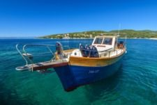 Traitional Croatian Boat Leut Vagabundo in Split